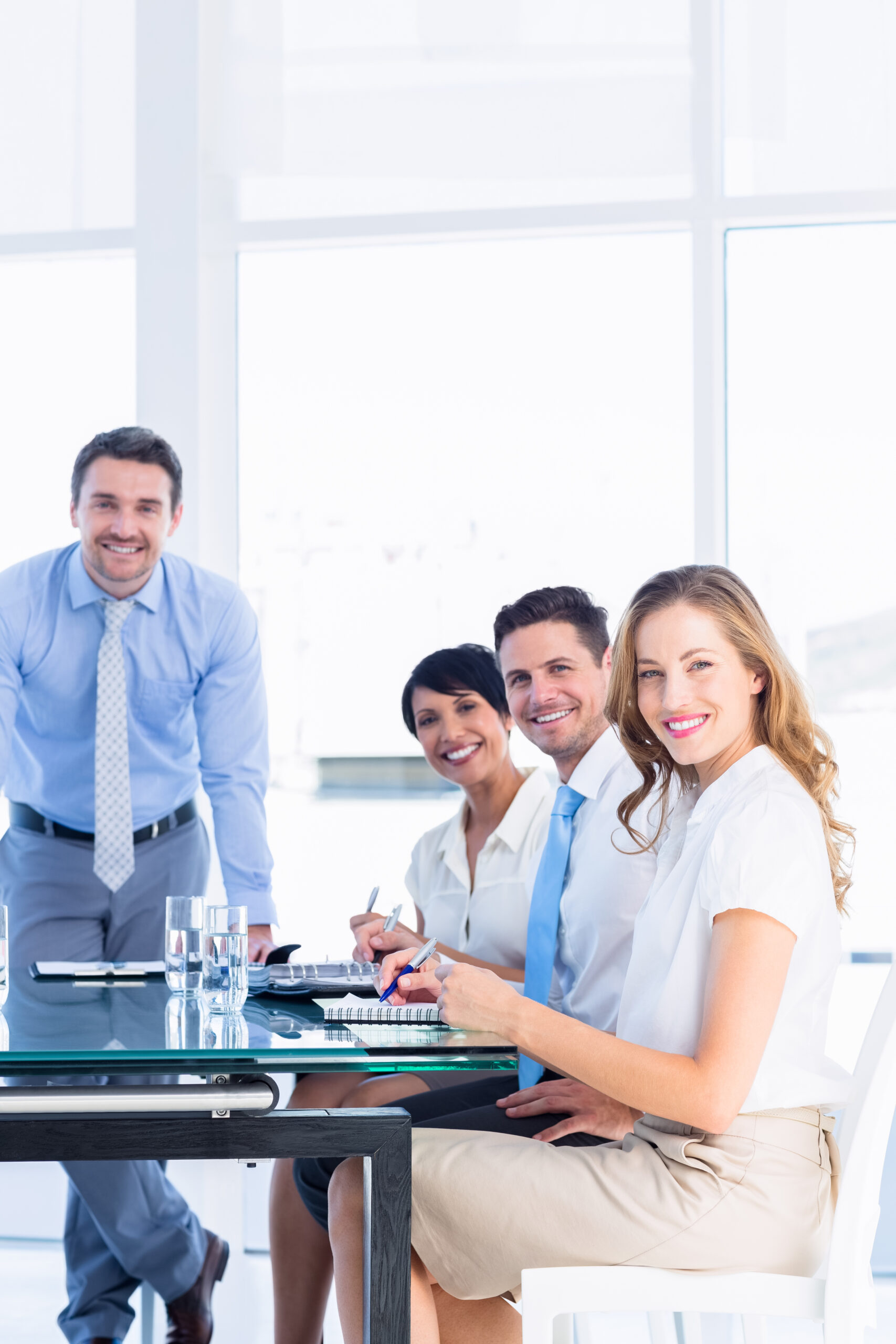 young executives around conference table